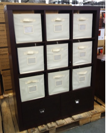 Costco Sale Bayside Furnishings 9 Cube Room Divider with 2 Drawers