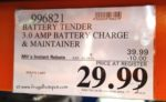 Battery Tender 3.0 Amp Battery Charger Costco Sale Price