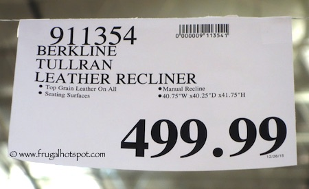 Berkline Tullran Leather Rocker Recliner Costco Price