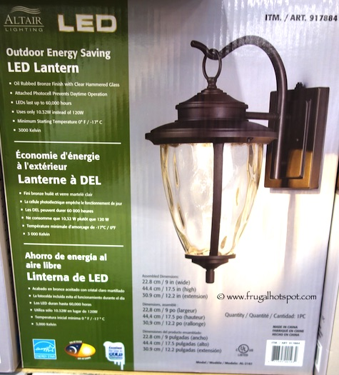Altair Lighting Outdoor Energy Saving LED Lantern Bronze Costco - Costco Sale: Altair Lighting Outdoor Energy Saving LED Lantern