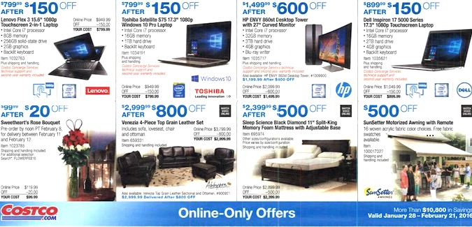 Costco Coupon Book: January 28, 2016 - February 21, 2016. Frugal Hotspot. Page 13