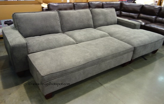 Awesome Chaise Sofa With Storage Ottoman Costco