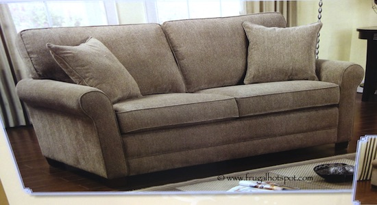 Beau Chenille Fabric Sofa With Queen Sleeper Costco