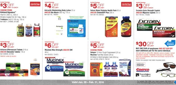 Costco Coupon Book: January 28, 2016 - February 21, 2016. Frugal Hotspot. Page 12