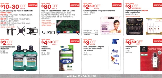 Costco Coupon Book: January 28, 2016 - February 21, 2016. Frugal Hotspot. Page 3