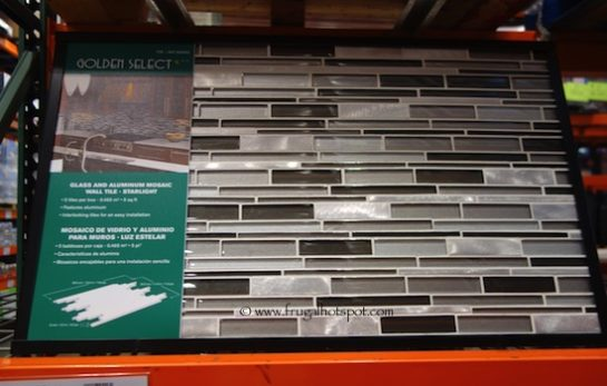 Golden Select 'Starlight' Glass and Aluminum Mosaic Wall Tile (5 Square Feet) Costco