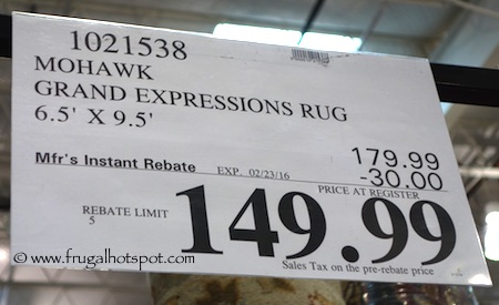 Mohawk Grand Expressions 6.5' x 9.5' Rug Costco Price / Frugal Hotspot