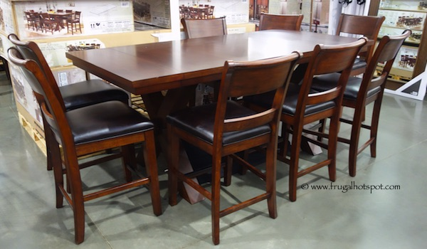 Costco hillsdale furniture 9 pc counter height dining set for 9 piece dining room set counter height