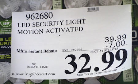 home zone led motion activated security light instructions