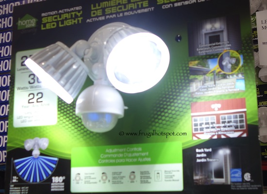 home zone led motion activated security light user manual