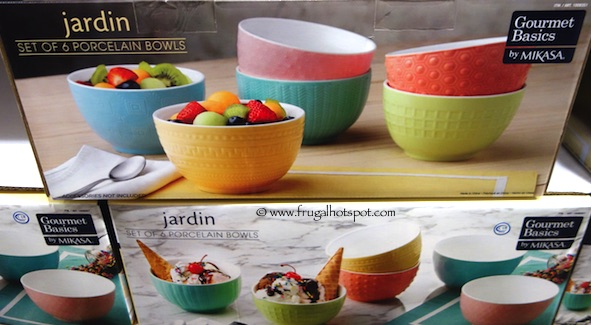 Jardin Porcelain Bowls Set of 6 - Gourmet Basics by Mikasa Costco