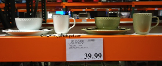 Over and Back Pearls 16-Piece Porcelain Dinnerware Set Costco Price