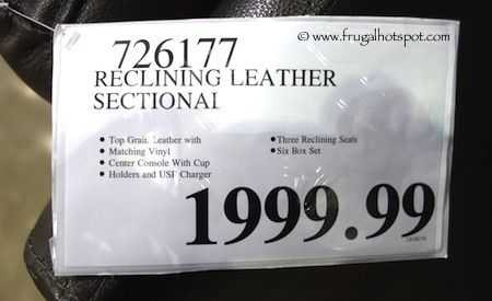 Reclining Leather Sectional Costco Price