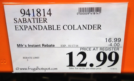 Sabatier Expandable Colander Costco Price