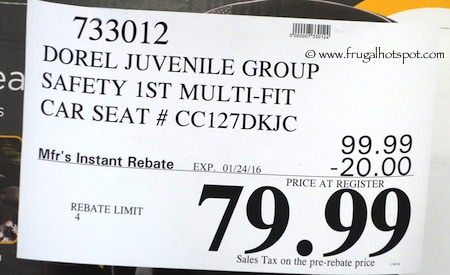Dorel Juvenile Group Safety 1st Multi Fit 3 In 1 Car Seat Costco Price