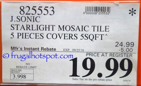 Golden Select 'Starlight' Glass and Aluminum Mosaic Wall Tile (5 Square Feet) Costco Price | Frugal Hotspot