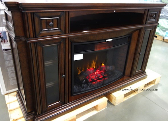 "Well Universal 72"" Electric Fireplace Media Mantel Costco"