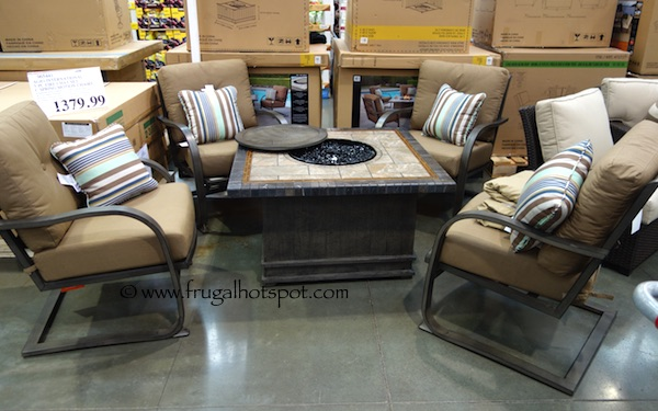 Costco Fire Pit Table Costco: Agio International 5-Pc Fire Chat Set $1379.99 | Frugal ...