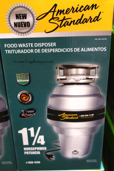 American Standard Food Waste Disposer at Costco