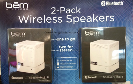 Bem Wireless 2-Pack Bluetooth Wireless Speakers White Costco