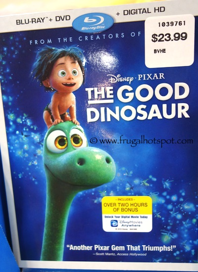 The Good Dinosaur Blu-Ray + DVD + Digital HD Costco / Frugal Hotspot