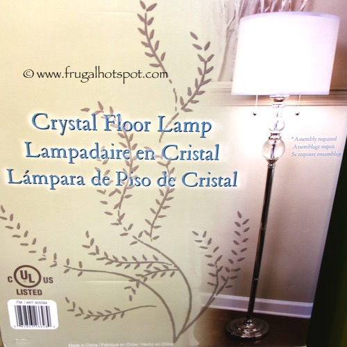 costco: j. hunt home crystal floor lamp $74.99 | frugal hotspot