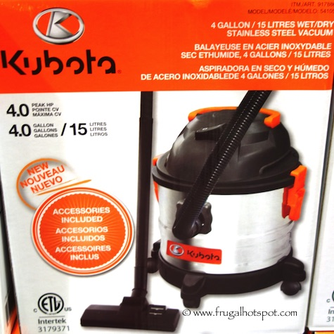 Kubota 4-Gallon Stainless Steel Wet/Dry Vacuum Costco