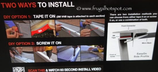 EasyOn GutterGuard DIY Micro-Mesh Gutter Protection System at Costco