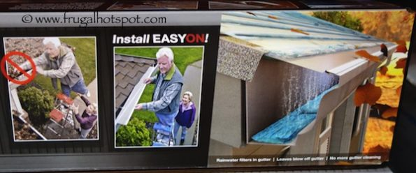 EasyOn GutterGuard DIY Micro-Mesh Gutter Protection System Costco