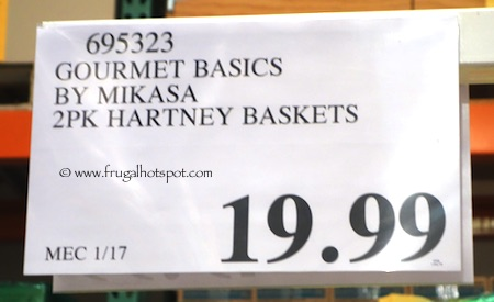 Gourmet Basics by Mikasa Hartney Stacking Baskets 2-Pk Costco Price