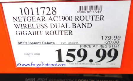 Netgear Nighthawk AC1900 Smart WiFi Router Costco Price | Frugal Hotspot