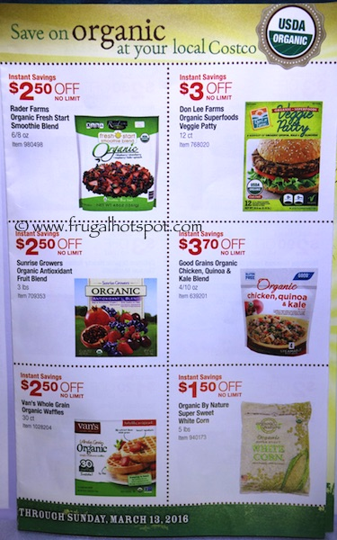 Costco ORGANIC Coupon Book: February 15, 2016 - March 13, 2016. Frugal Hotspot. Page 6