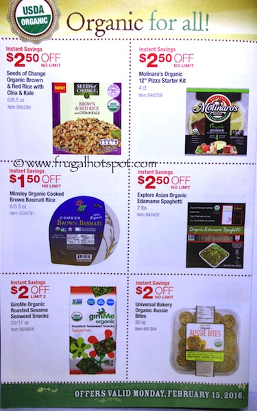 Costco ORGANIC Coupon Book: February 15, 2016 - March 13, 2016. Frugal Hotspot. Page 3