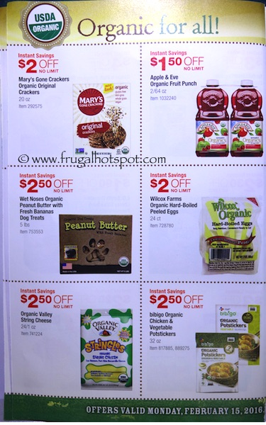 Costco ORGANIC Coupon Book: February 15, 2016 - March 13, 2016. Frugal Hotspot. Page 5