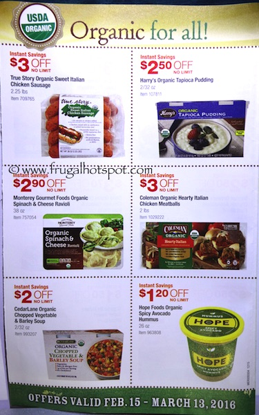 Costco ORGANIC Coupon Book: February 15, 2016 - March 13, 2016. Frugal Hotspot. Page 7