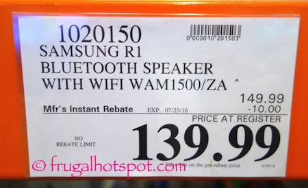 Samsung R1 Radiant 360 WiFi Speaker Costco Price | Frugal Hotspot