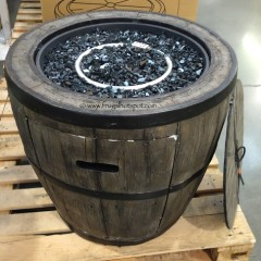 """Costco: Global Outdoors 27"""" Wine Barrel Gas Fire Table $199.99"""