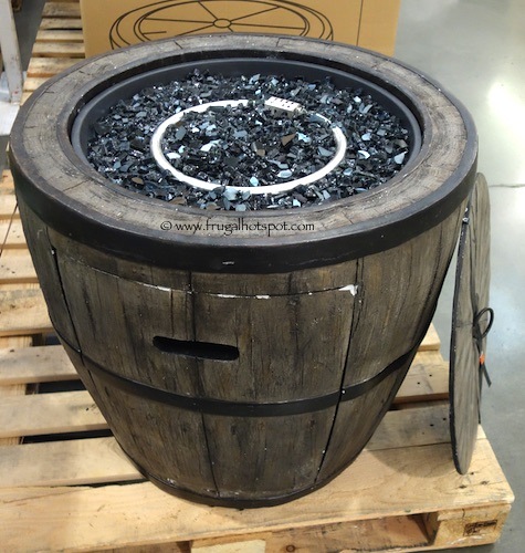 "Global Outdoors 27"" Wine Barrel Gas Fire Table Costco"