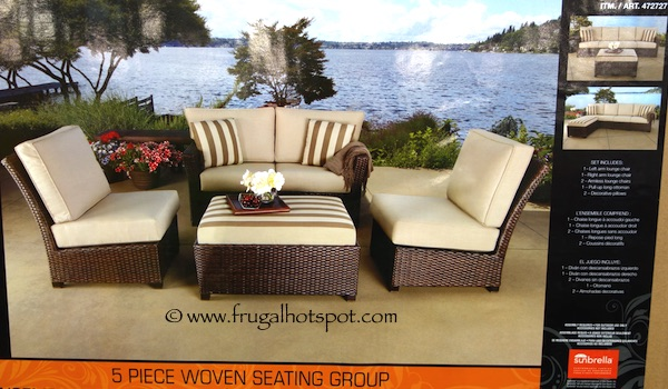 Costco Sale 5 Pc Modular Woven Seating Group $599 99