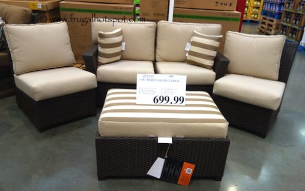 5-Piece Modular Woven Seating Group Costco