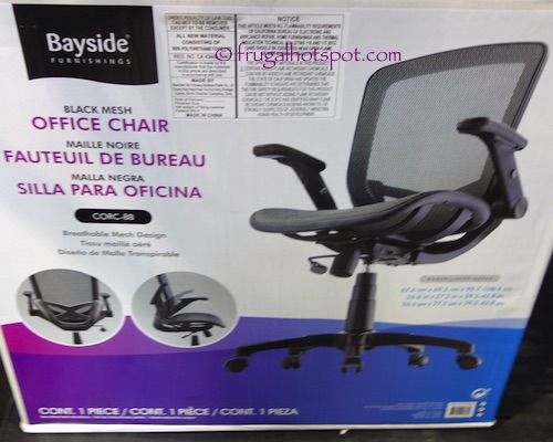 Bayside Furnishings Metrex II Black Mesh Office Chair Costco | Frugal Hotspot