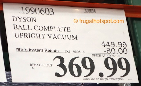 Dyson Ball Complete Upright Vacuum Costco Price | Frugal Hotspot