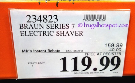 Braun Series 7 Wet & Dry Shaver (Model 740s-7) Costco Price | Frugal Hotspot