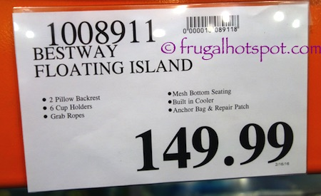 Bestway CoolerZ Tiki Breeze Floating Island Costco Price | Frugal Hotspot