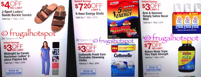 Costco Coupon Book: April 7, 2016 - May 1, 2016. Prices Listed.   Frugal Hotspot P. 13