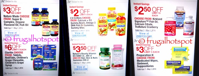 Costco Coupon Book: April 7, 2016 - May 1, 2016. Prices Listed. | Frugal Hotspot P. 15