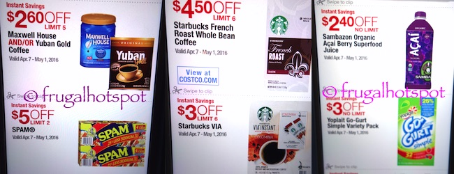 Costco Coupon Book: April 7, 2016 - May 1, 2016. Prices Listed. | Frugal Hotspot P. 19