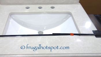 "60"" Wood Vanity with Porcelain Double Sink Costco 