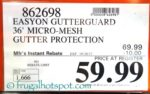 Costco Price: EasyOn GutterGuard DIY Micro-Mesh Gutter Protection System