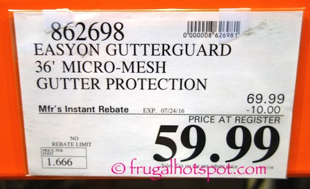 EasyOn GutterGuard DIY Micro-Mesh Gutter Protection System Costco Price | Frugal Hotspot